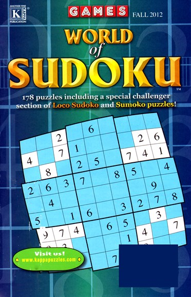 World Of Sudoku Cover - 9/1/2012