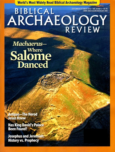 Biblical Archaeology Review Cover - 9/1/2012