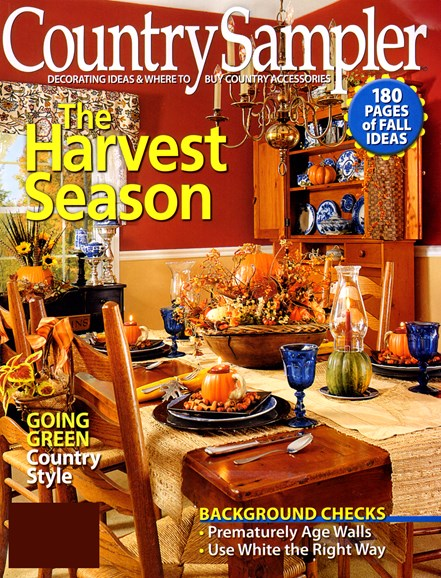 Country Sampler Cover - 9/1/2012