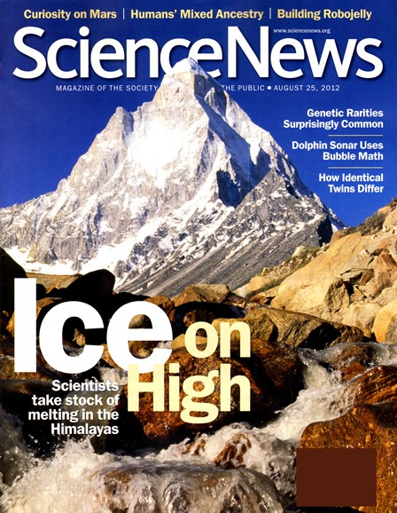 Science News Cover - 8/25/2012
