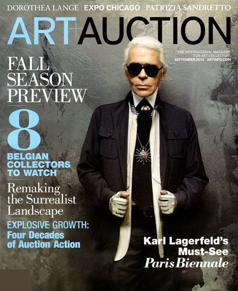 Blouin Art & Auction Cover - 9/1/2012
