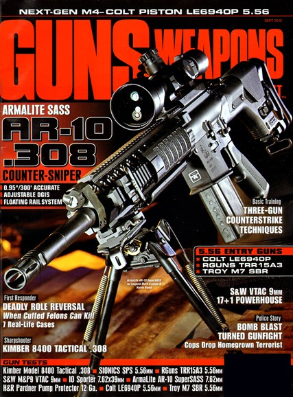 Guns & Weapons For Law Enforcement Cover - 9/1/2012