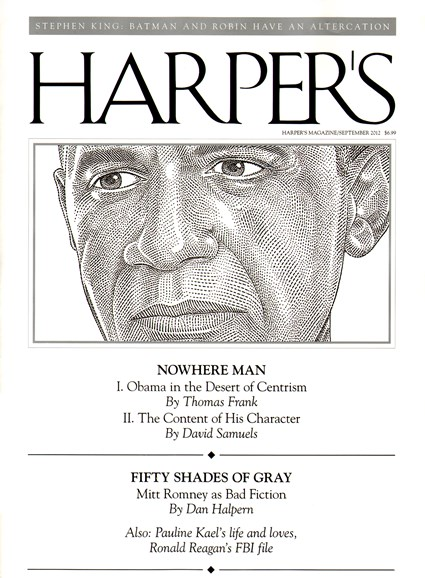 Harper's Cover - 9/1/2012