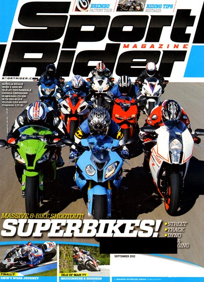 Sport Rider Cover - 9/1/2012
