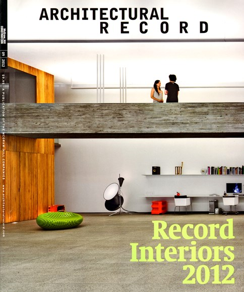 Architectural Record Cover - 9/1/2012