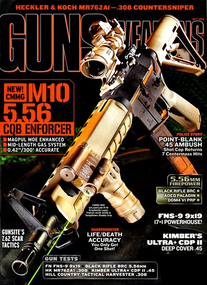 Guns & Weapons For Law Enforcement Cover - 10/1/2012