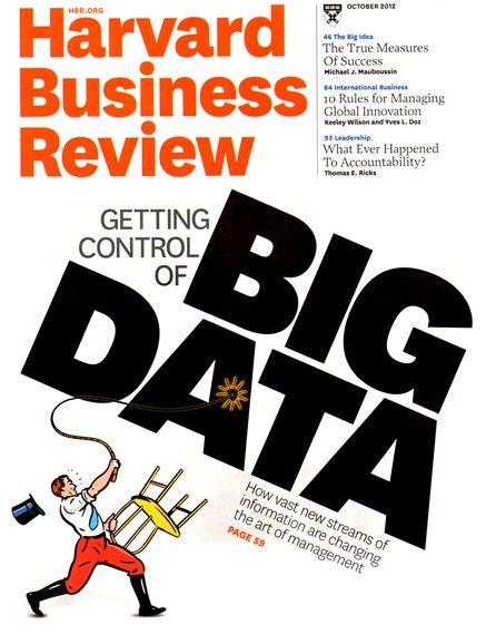 Harvard Business Review Cover - 10/1/2012