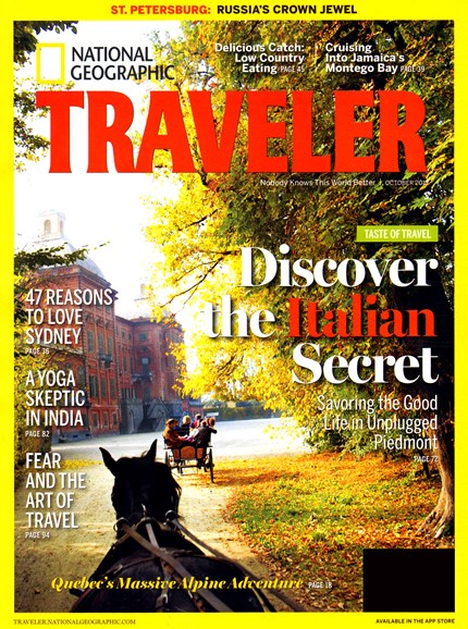 National Geographic Traveler Cover - 10/1/2012