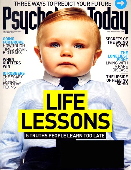 Psychology Today Cover - 10/1/2012