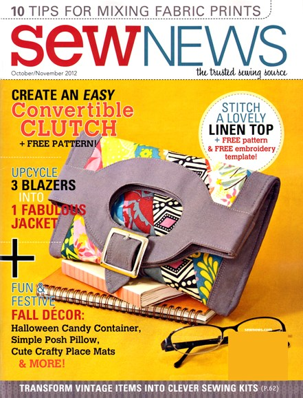 Sew News Cover - 10/1/2012