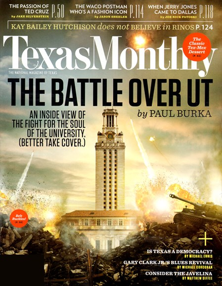 Texas Monthly Cover - 10/1/2012