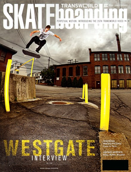Transworld SKATEboarding Cover - 10/1/2012