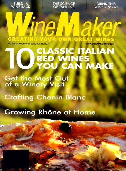 Winemaker Cover - 10/1/2012