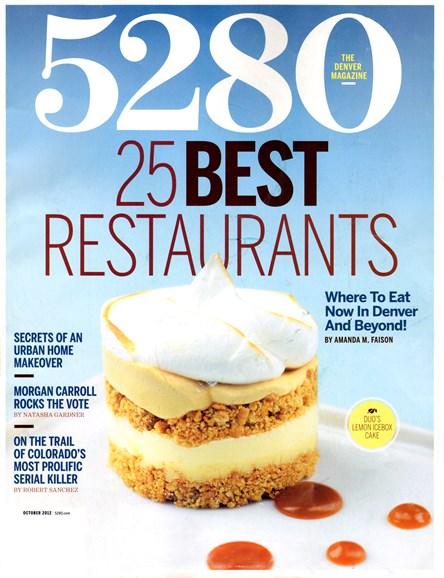 5280 Magazine Cover - 10/1/2012