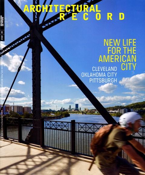 Architectural Record Cover - 10/1/2012
