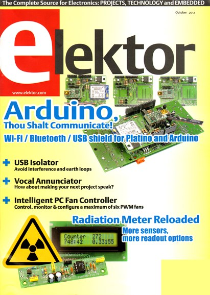 Elektor - North American Edition Cover - 10/1/2012