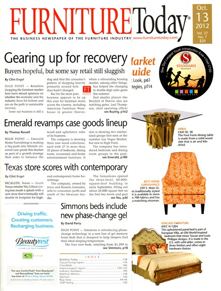Furniture/Today Cover - 10/13/2012