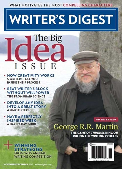 Writer's Digest Cover - 11/1/2012