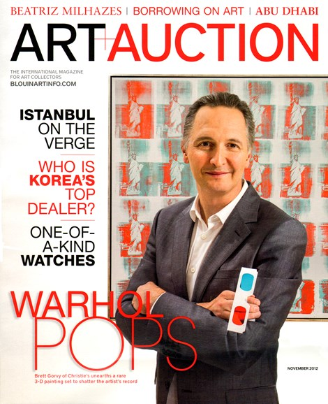 Blouin Art & Auction Cover - 11/1/2012