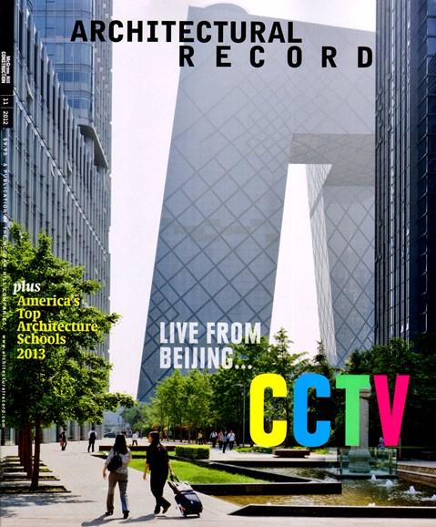 Architectural Record Cover - 11/1/2012