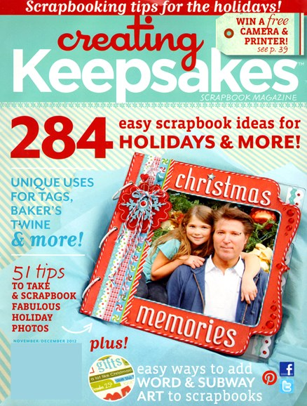 Creating Keepsakes Cover - 11/1/2012