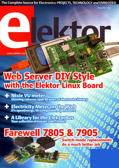 Elektor - North American Edition Cover - 11/1/2012