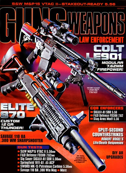 Guns & Weapons For Law Enforcement Cover - 11/1/2012