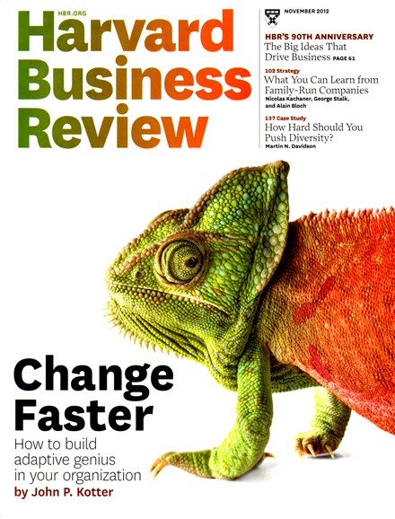 Harvard Business Review Cover - 11/1/2012