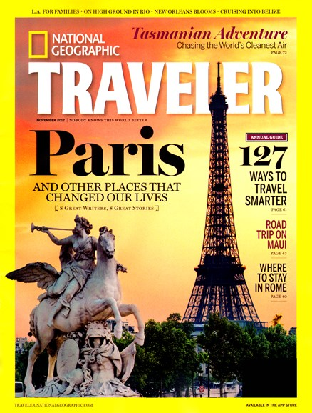 National Geographic Traveler Cover - 11/1/2012