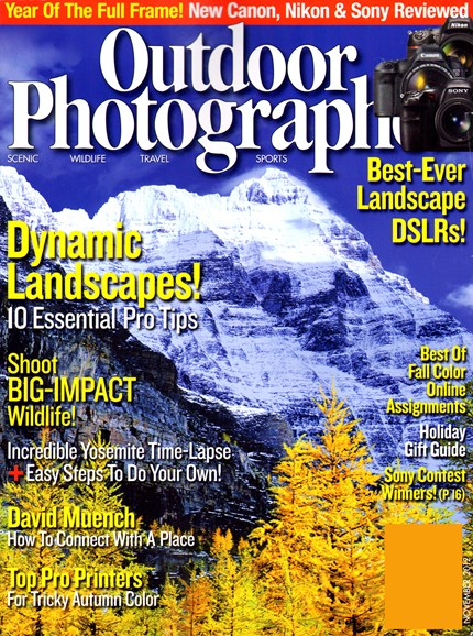 Outdoor Photographer Cover - 11/1/2012