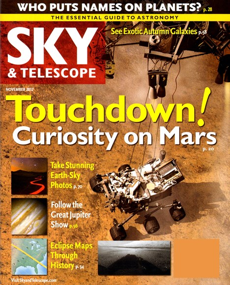 Sky & Telescope Cover - 11/1/2012