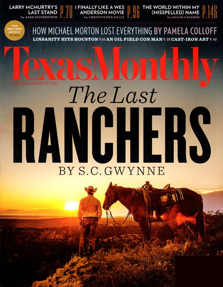 Texas Monthly Cover - 11/1/2012