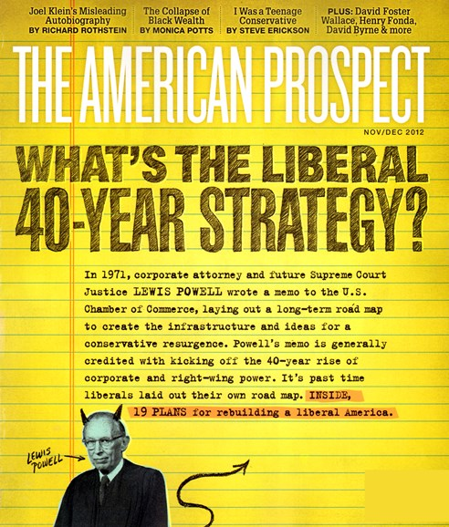 The American Prospect Cover - 11/1/2012