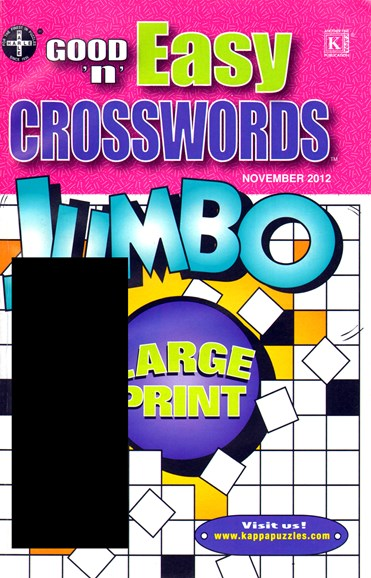 Good N Easy Crosswords Jumbo Cover - 11/1/2012