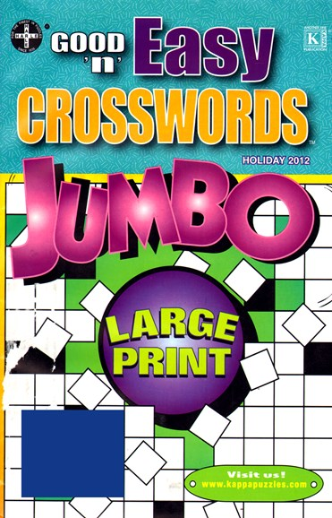 Good N Easy Crosswords Jumbo Cover - 12/1/2012