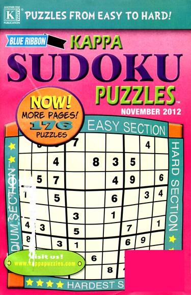 Blue Ribbon Kappa Sudoku Puzzles Cover - 11/1/2012