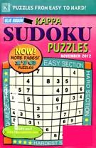 Blue Ribbon Kappa Sudoku Puzzles Magazine 11/1/2012