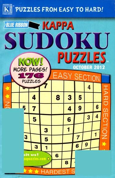 Blue Ribbon Kappa Sudoku Puzzles Cover - 10/1/2012