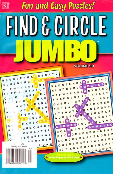 Find & Circle Jumbo Cover - 8/1/2012