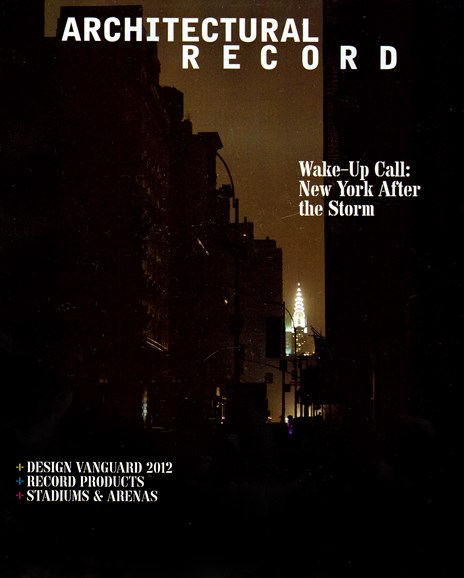 Architectural Record Cover - 12/1/2012