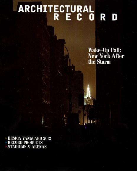Architectural Record Cover - 12/1/2012