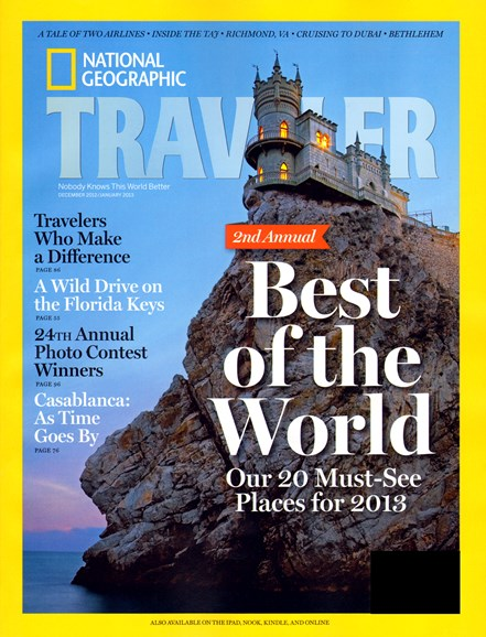 National Geographic Traveler Cover - 12/1/2012