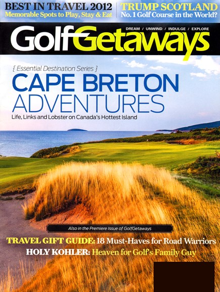 Golf Getaways Cover - 12/1/2012