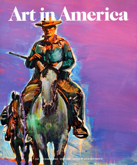 Art In America Cover - 12/1/2012