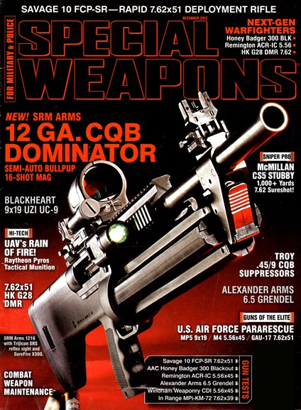 Special Weapons for Military & Police Cover - 12/1/2012