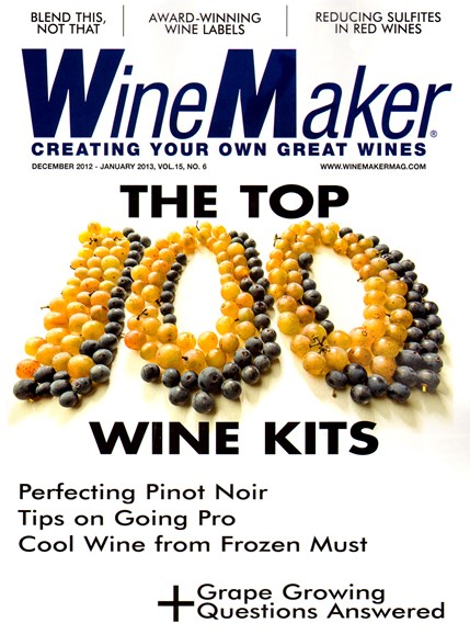 Winemaker Cover - 12/1/2012