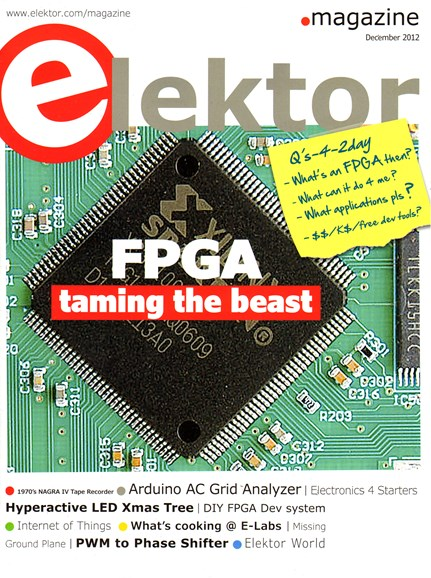 Elektor - North American Edition Cover - 12/1/2012