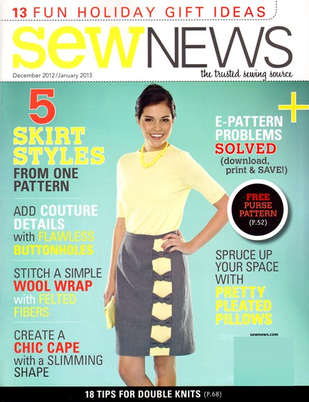 Sew News Cover - 12/1/2012
