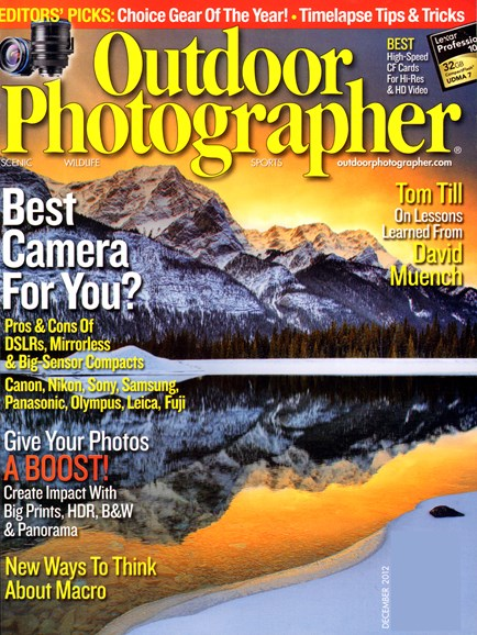 Outdoor Photographer Cover - 12/1/2012