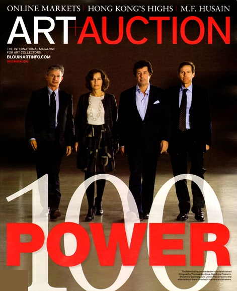 Blouin Art & Auction Cover - 12/1/2012